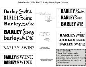 BarleySwineTypographyIdeaSheet
